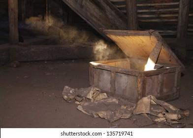 old box in the attic