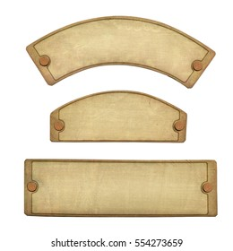 Old Brass Plate embossed (Clipping path)