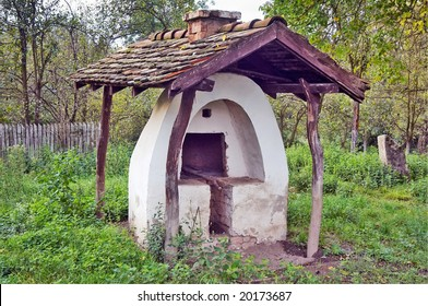 Old bread oven  in the courtyard