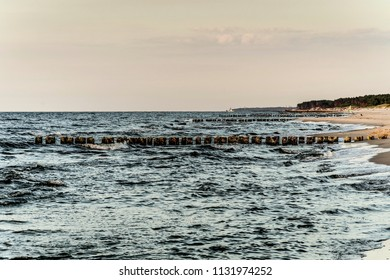 old breakwater by the sea