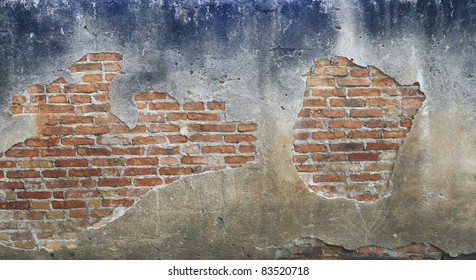 old brick concrete wall