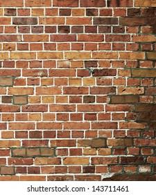 old brick grunge wall texture