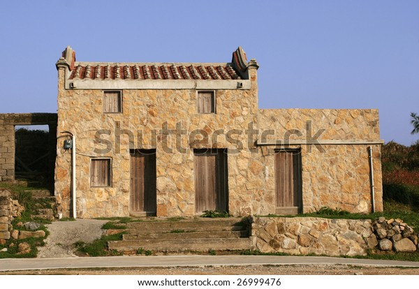 old brick house in the island
