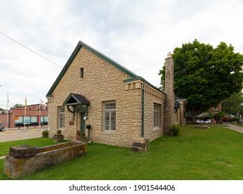 Old brick Museum at Ste. Genevieve, Missouri, USA