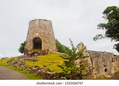 old brick oven in annaberg sugar mill plantation in US virgin islands