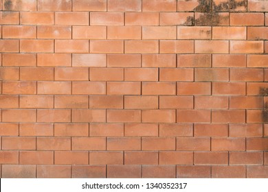 Old brick wall background with dirty texture.