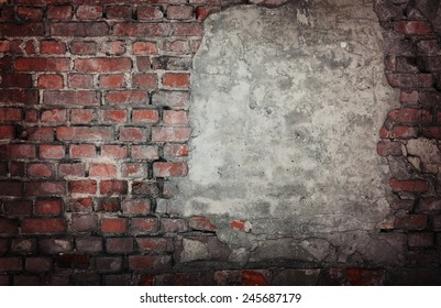 Old brick wall background or texture