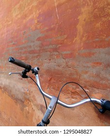 Old Brick Wall with Bicycle