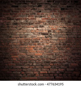 Old brick wall. Grunge background