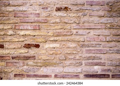 Old Brick wall, horizontal composition