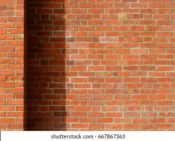 old brick wall with shadow