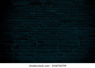 Old Brick Wall Texture for Background in Tidewater Green Color Tone.