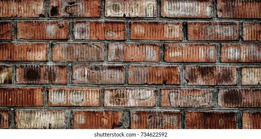 Old brick wall texture. Old wall background. Background of old vintage brick wall