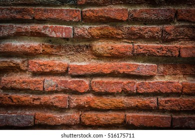 Old brick wall for texture or background,back and white old brick wall