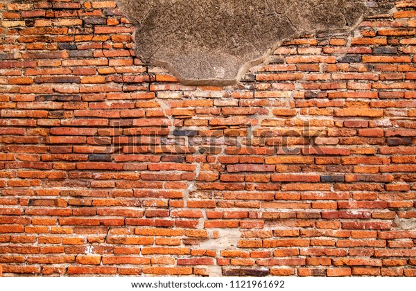 Old brick wall texture, vintage background