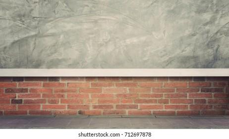Old brick wall vintage color