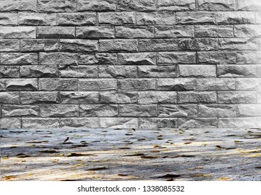 Old brick walls and concrete floors can be used as background images.