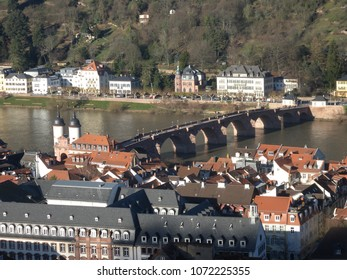 "Old Bridge (""Alte Brücke"") over the Neckar river in Heidelberg, Germany"