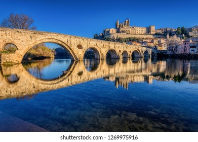 The Old Bridge at Beziers, in the south of France