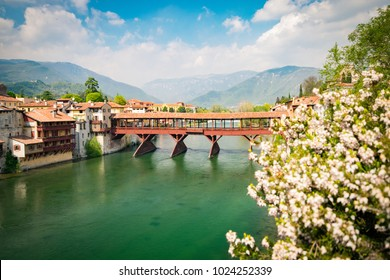 The Old Bridge also called the Bassano Bridge or Bridge of the Alpini, located in the city of Bassano del Grappa in the Province of Vicenza, is considered one of the most picturesque bridges in Italy.