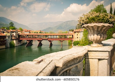 The Old Bridge also called the Bassano Bridge or Bridge of the Alpini, located in the city of Bassano del Grappa, in the Province of Vicenza is considered one of the most picturesque bridges in Italy.