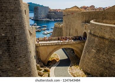 old bridge in dubrovnik croatia