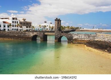 Old bridge and fortress in Arrecife, Lanzarote