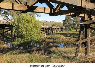 Old bridge at Gundagai, Australia