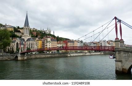Old bridge in Lyon