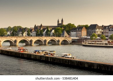 Old bridge in Maastricht, Holland