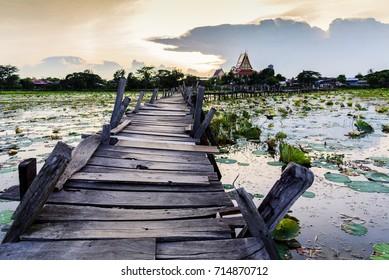 Old bridge in Mahasarakham city, Thailand