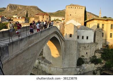 The Old Bridge in Mostar Bosnia Herzegovina unesco