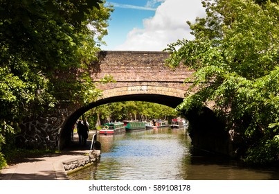 Old bridge over the Regent's Canal in Little Venice, London, England.
