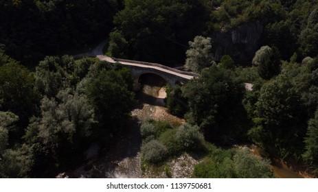 old bridge over the small river
