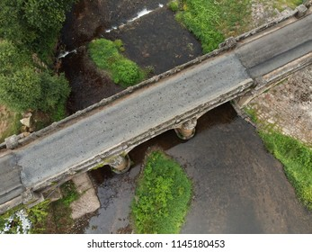 Old bridge photo taken with drone