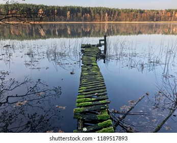 Old bridge in Polish naturalpark