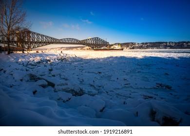 old bridge in Quebec City, Canada,