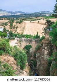 The Old Bridge in Ronda, Spain