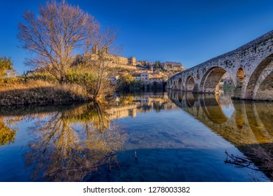 The Old Bridge and St. Nazaire Cathedral at Beziers, France