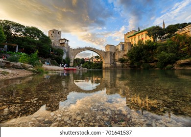 Old Bridge, Stari most, Mostar, Bosnia and Herzegovina, August 2017