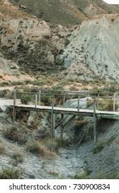 old bridge in the Tabernas Desert, Almeria, Spain