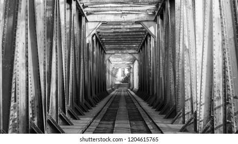 Old Bridge in Trencin Black and White
