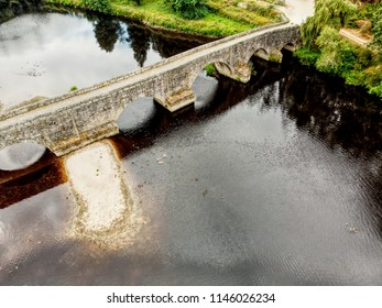 Old brigde over Ave river at Vila do conde