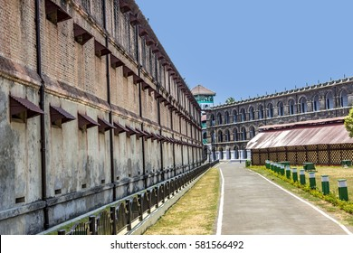 old brisish cellular prison on the island of Andamans in India