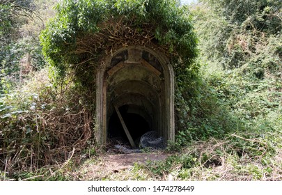 Old British air raid shelter entrance