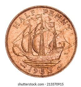 Old British Half Pence Piece