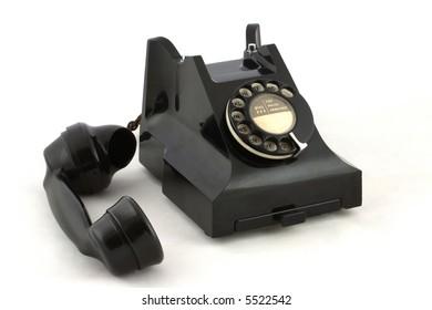 Old British telephone and handset