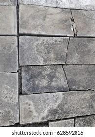 Old broken bricks background