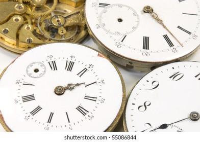 old broken clockworks