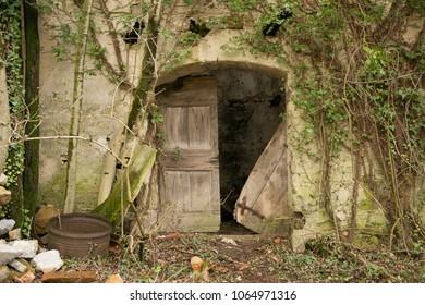 old broken down doors